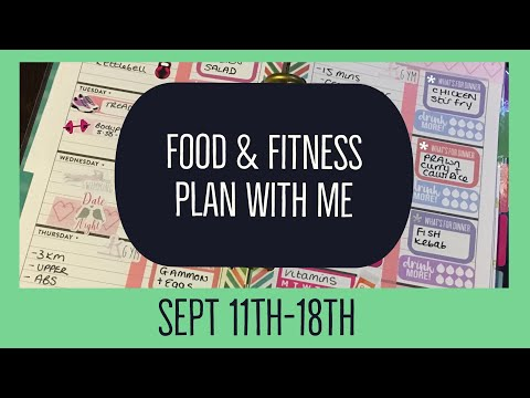 Food & Fitness Plan With Me ~ Mini Happy Planner September 11th Chatty!