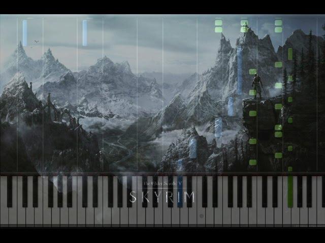 The Elder Scrolls V Skyrim Sovngarde Piano Cover Synthesia Piano