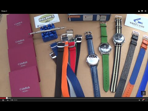 Watch Strap Changing Guide - New Luxury Watch Straps From Colareb Roma - Wrist Candy Perlons Reviewиз YouTube · Длительность: 20 мин24 с