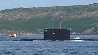 Маневр погружения-всплытия ПЛ 877 проекта