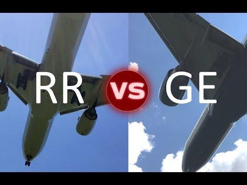 777-200ER engine comparison Rolls Royce VS GE