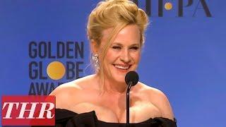 Golden Globes Winner Patricia Arquette Full Press Room Speech | THR