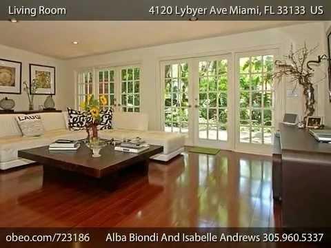 maison vendre miami 4120 lybyer avenue coconut grove youtube. Black Bedroom Furniture Sets. Home Design Ideas
