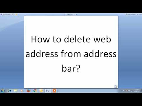 Delete address or url from address bar (All Browser)