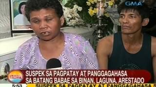 UB: Suspek sa pagpatay at panggagahasa sa batang babae sa Biñan, Laguna, arestado