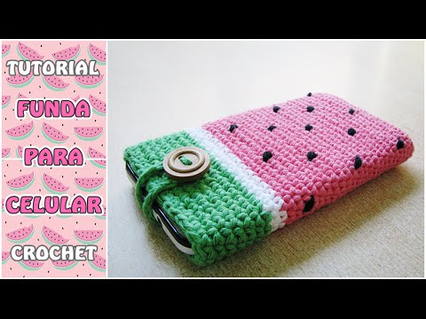 C mo hacer una funda para el celular a crochet paso a - Como hacer unas fundas para el sofa ...