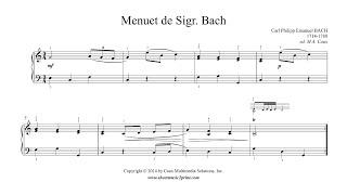 C.P.E. Bach : Menuet in C Major