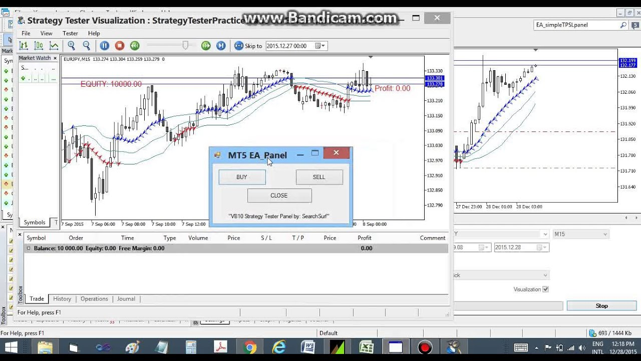 Mt5 Strategy Tester Manual Order Execution Youtube