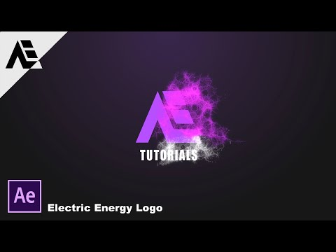 After Effects Tutorial: Electric Energy Particles Logo (Simple-Method)