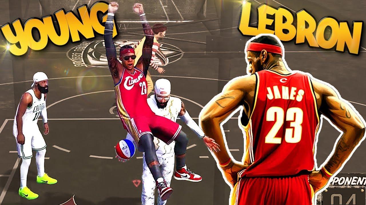 6'8 Young LeBron James Archetype - CRAZY BLOCKS! - NBA 2K18 3v3 Park