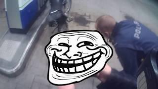 Poliisit yllättää tankilla