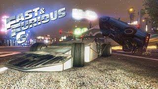 GTA Online Fast and Furious 6 Flip Car Scene