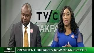TVC Breakfast January 1st 2018   President Buhari's New Year Speech