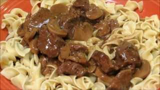 Beef And Noodles With Mushroom Gravy