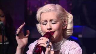 Christina Aguilera - You Lost Me [Live David Letterman] HD