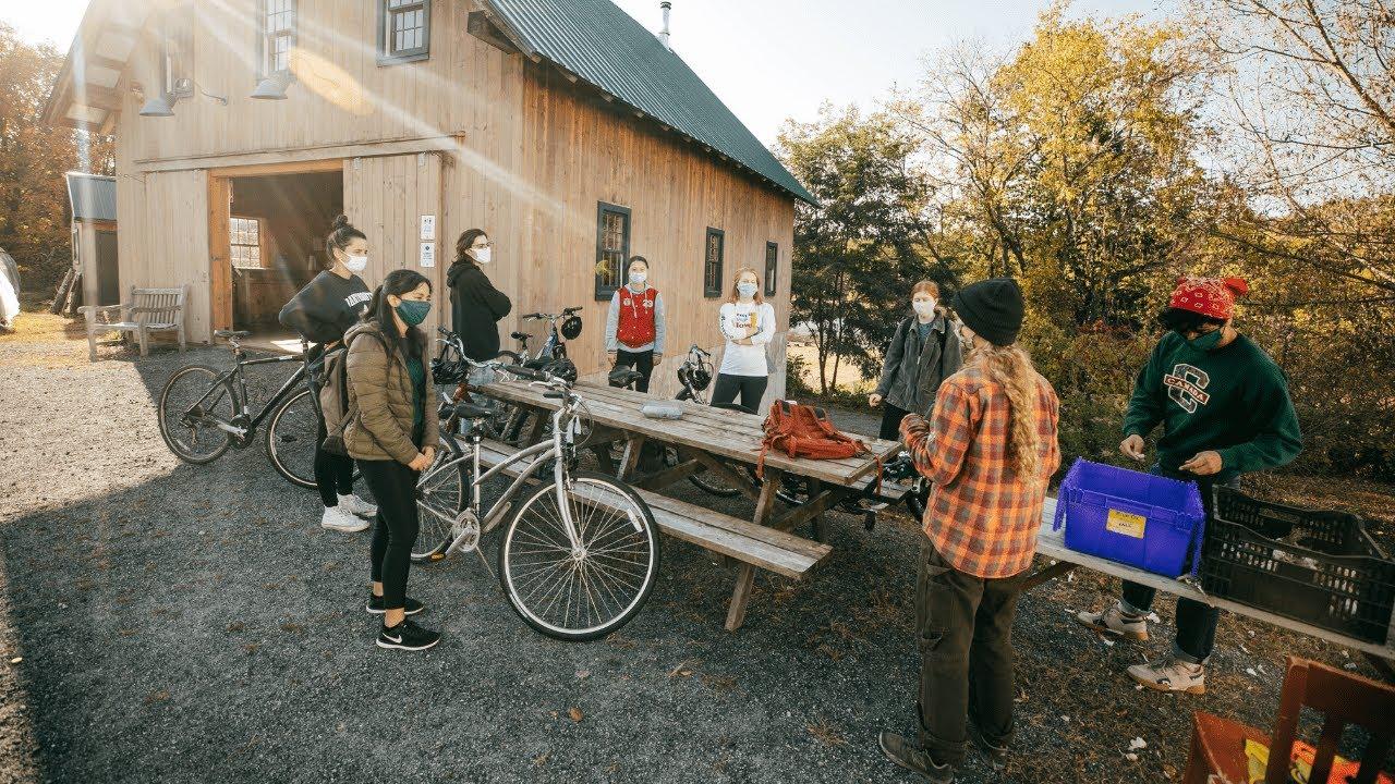 Students Take a Bike Trip to the Organic Farm