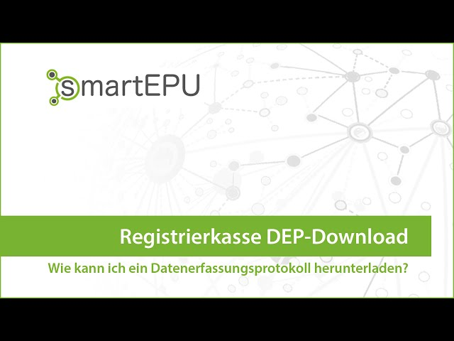 smartEPU: Registrierkasse DEP-Download