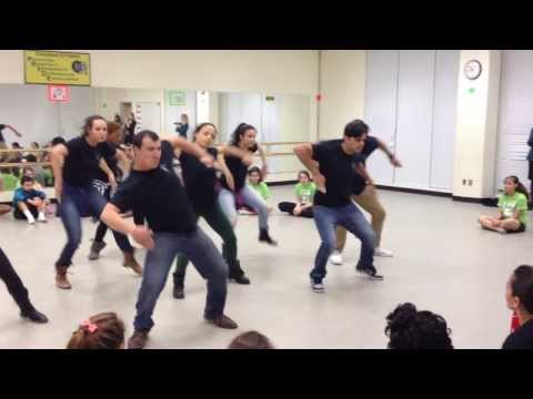 CONTRA-TIEMPO Step Routine for Kenmore Middle School
