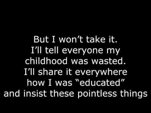 [LYRICS] Don't Stay In School - BoyInABand