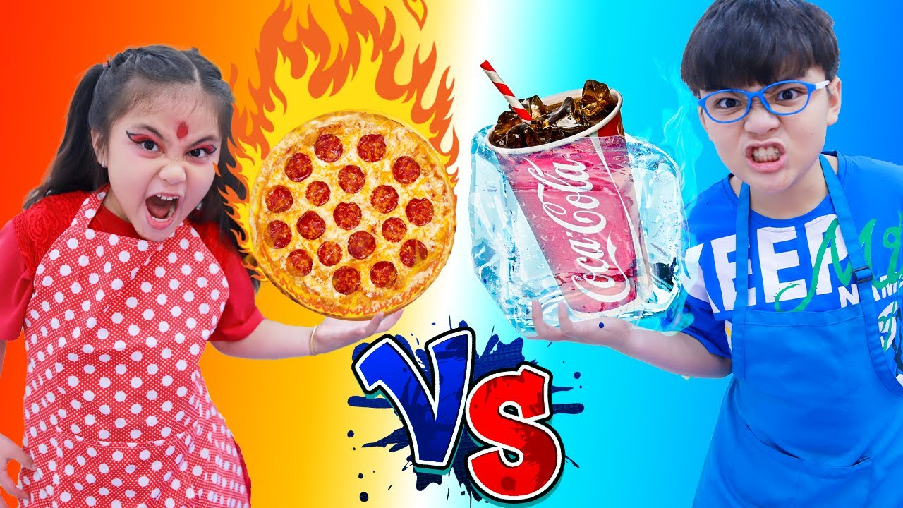 Annie Hot vs Cold Food Challenge with Harry