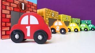 Lernen Zahlen und Farben mit tollen Autos. Video für Kinder.