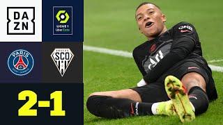Mbappe vom Punkt! Schwaches PSG dreht Partie spät: PSG - Angers 2:1 | Ligue 1 | DAZN Highlights