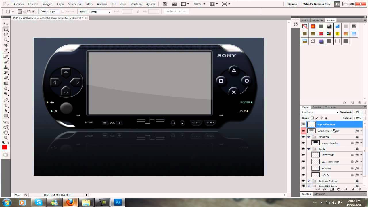 PSP  Editable Tutorial Photoshop (PsD)