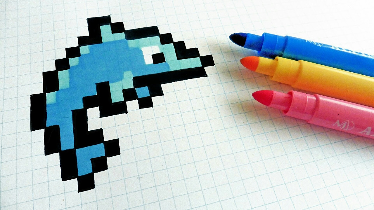 Comment Dessiner Un Dauphin En Pixel