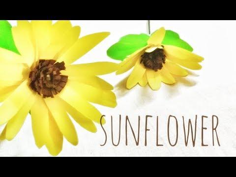 SUNFLOWER | Paper Flower | DIY | Craft Idea