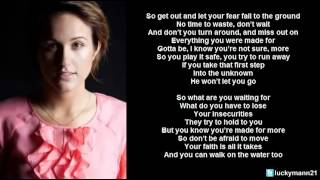Britt Nicole - Walk On The Water (Lyric Video) Christian Pop