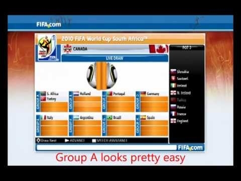 FIFA 2010 World Cup Draw with Canada