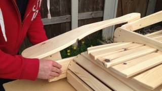 Attaching Arm Adirondack Chair Folding