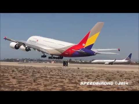 Asiana Airlines Airbus A380-841 [HL7626] Taxi and Takeoff