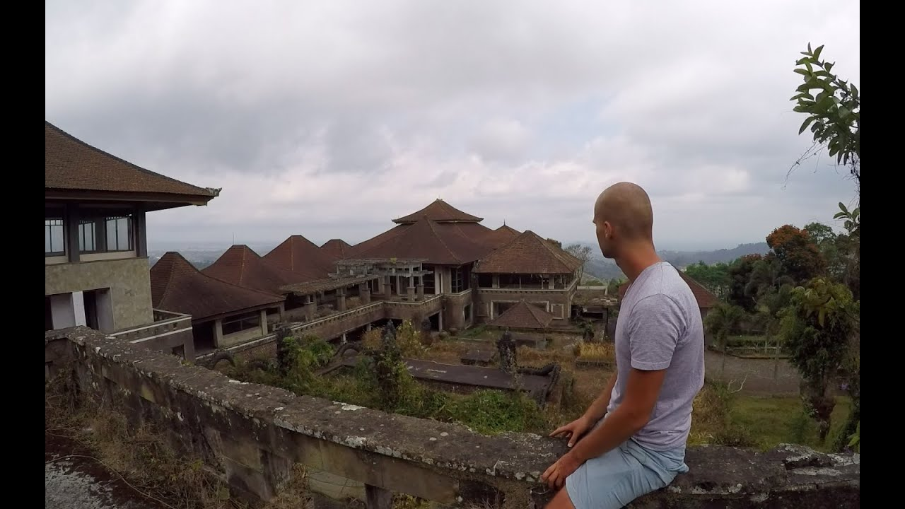 Massive Abandoned Hotel In Bali Ghost Palace Hotel Indonesia Youtube