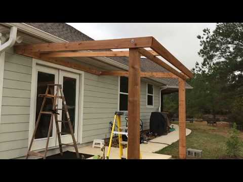 Porch Cover Construction DIY in 5 Days - Timelapse