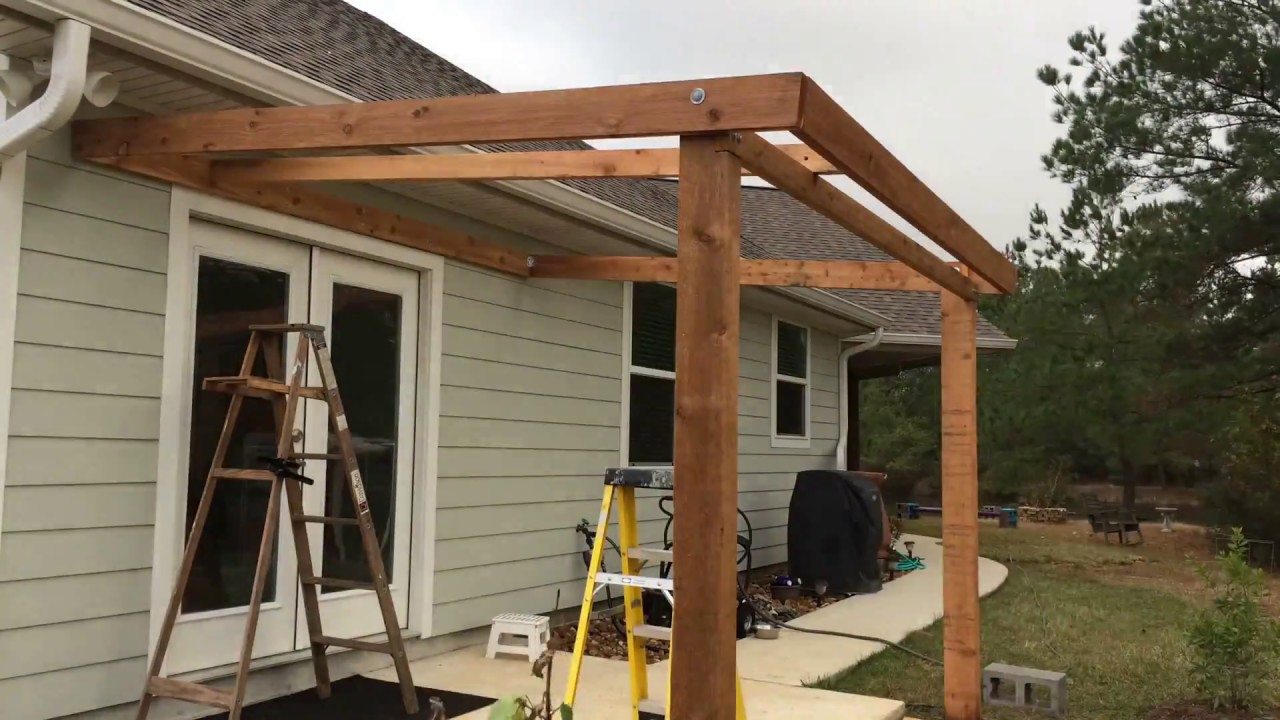 porch cover construction diy in 5 days timelapse