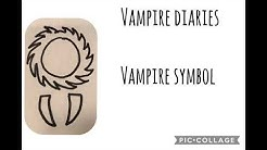 How to draw a vampire symbol