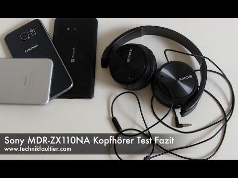 sony mdr zx110na kopfh rer test fazit youtube. Black Bedroom Furniture Sets. Home Design Ideas