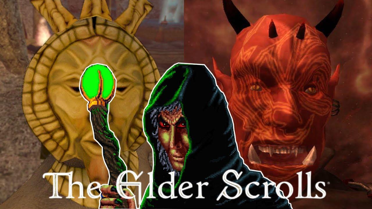 All Final Boss Fights & Endings - In The Elder Scrolls Main Series