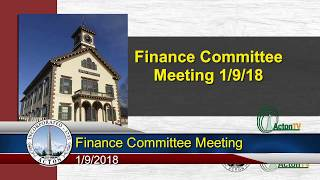 Finance Committee Meeting 1/9/18
