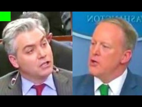 Sean Spicer HEATED response to ABC News and CNN reporters 3/16/2017