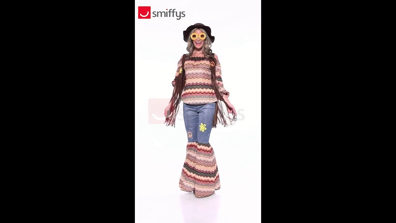 Adult Harmony Hippie Costume (43856)  sc 1 st  YouTube & Adult Harmony Hippie Costume (43856) - YouTube