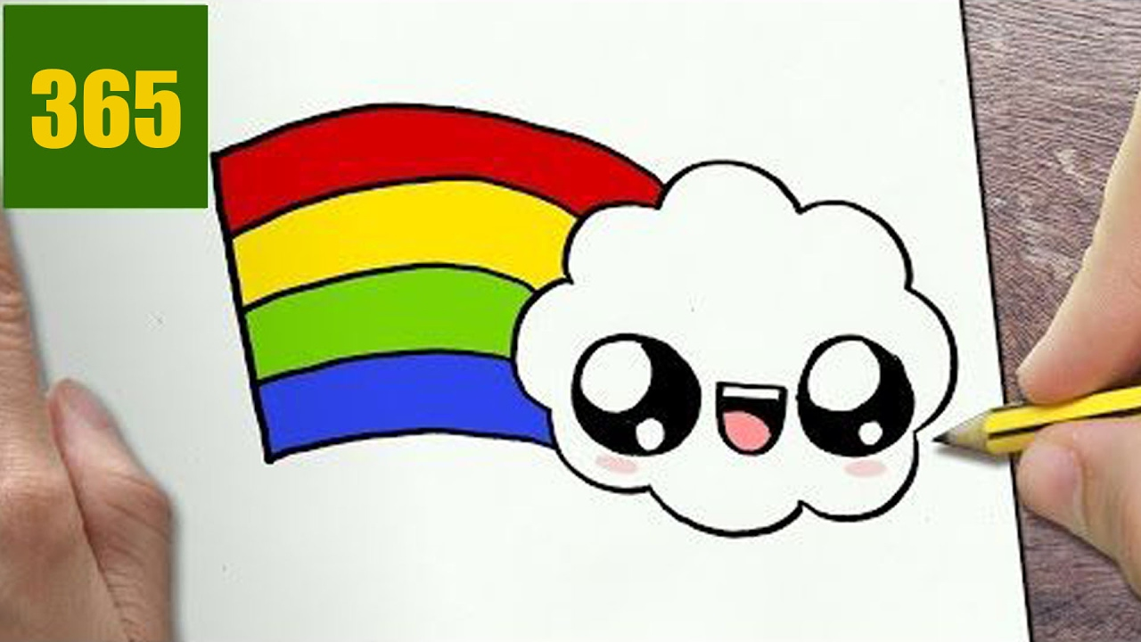 How To Draw A Rainbow Cute Easy Step By Step Drawing Lessons For