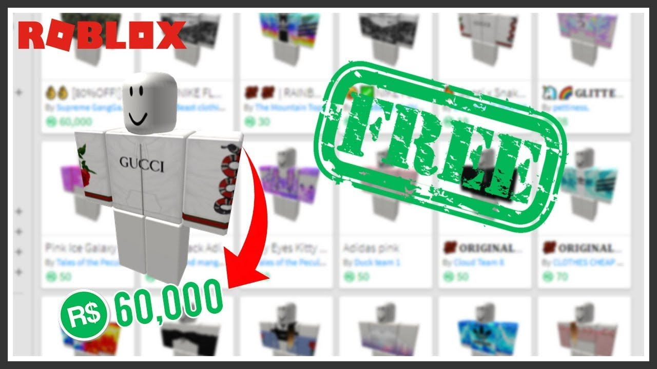 how to get free clothes on roblox 2018 no bc