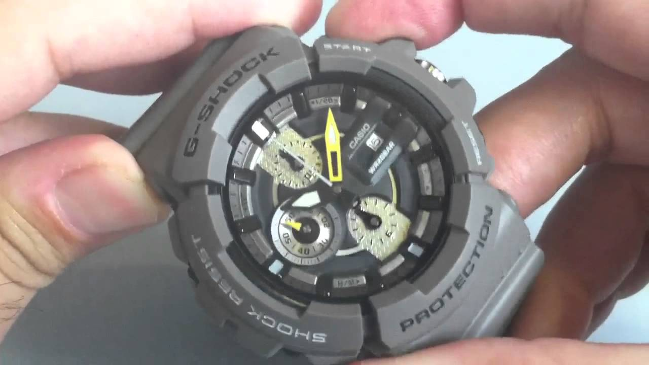 how to change the seconds on a g shock watch