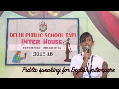 topics for extempore speech competition