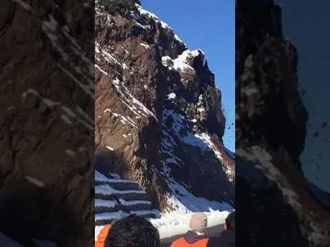 Impresionante derrumbe en la Ruta 40, entre Bariloche y Villa La Angostura