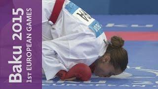 Emily Thouy wins Gold in the Womens Kumite - 55kg | Karate | Baku 2015 European Games