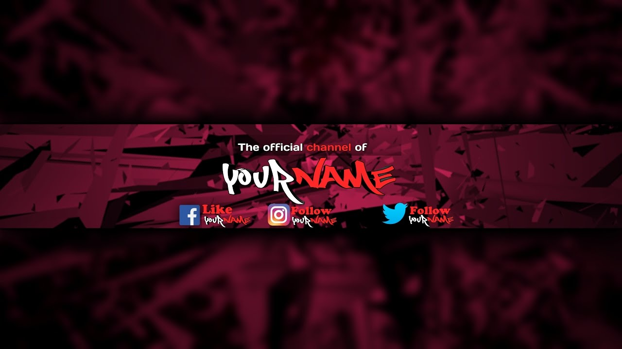attractive and customizable youtube channel art for youtuber
