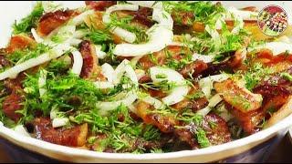Тёплый картофельный салат с копчёной скумбрией. Просто, вкусно, недорого.